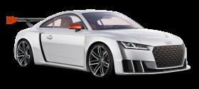 White Audi TT Clubsport Turbo Car PNG