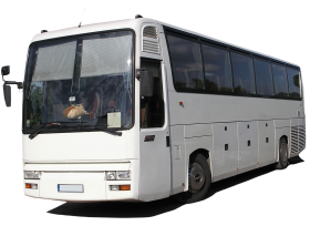 White Bus PNG