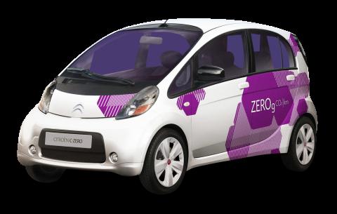 White Citroen C Zero Small Car PNG