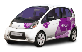 White Citroen C Zero Small Car PNG