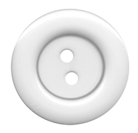 White Cloth Button With 2 Hole PNG