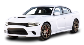 White Dodge Charger Car PNG
