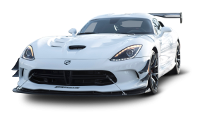 White Dodge Viper ACR Car PNG