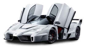 White Ferrari Enzo Car PNG