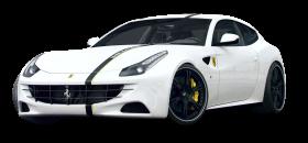 White Ferrari FF Car PNG