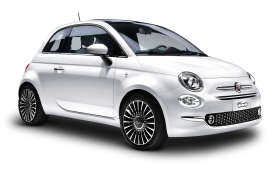 White FIAT 500 Car PNG