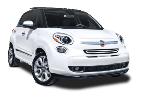 White Fiat 500L Car PNG
