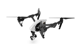 White Flying Drone PNG