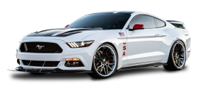White Ford Mustang Apollo Car PNG