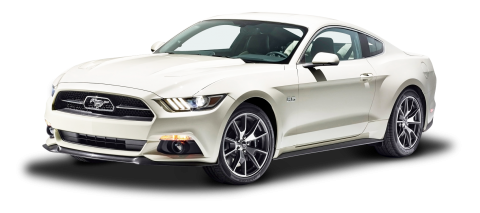 White Ford Mustang GT Fastback Car PNG