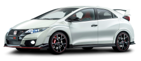 White Honda Civic Car PNG