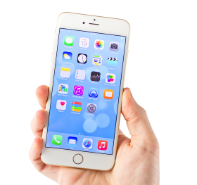 White iPhone 6 PNG