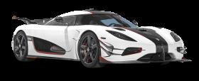 White Koenigsegg One 1 Car PNG