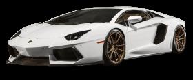 White Lamborghini Aventador Car PNG
