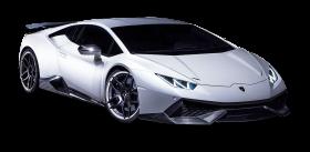 White Lamborghini Huracan Car PNG