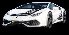 White Lamborghini Huracan O CT800 Car PNG