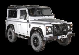 White Land Rover Defender Car PNG
