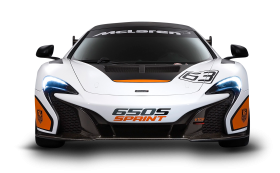 White McLaren 650S Sprint Car PNG