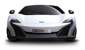 White Mclaren 675LT Car PNG