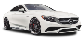 White Mercedes Benz S63 AMG Car PNG