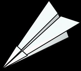 White Paper Plane PNG