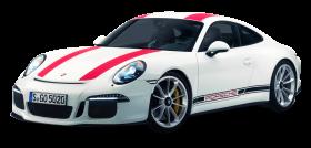 White Porsche 911 R Car PNG