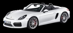 White Porsche Boxster Spyder Car PNG