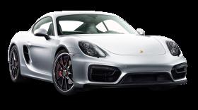 White Porsche Cayman GTS Car PNG