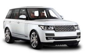 White Range Rover Car PNG