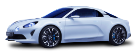 White Renault Alpine Car PNG