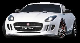 White Startech Jaguar F Type Coupe Sports Car PNG