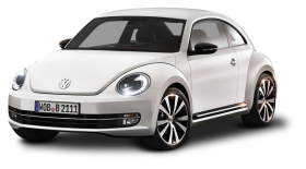 White Volkswagen Beetle Car PNG