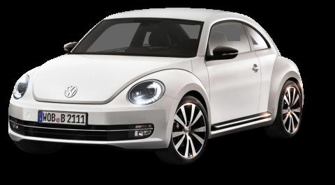 White Volkswagen Beetle PNG