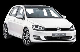 White Volkswagen Golf Car PNG