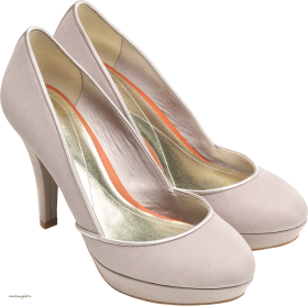 White Women Shoes PNG