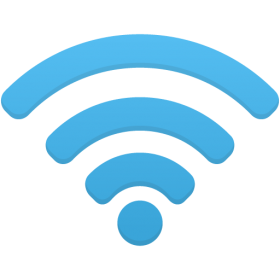 Wifi Icon Blue PNG