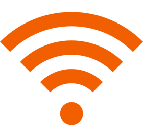 Wifi Icon Yellow PNG
