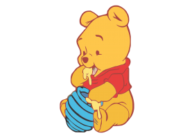 Winnie The Pooh  - Baby PNG