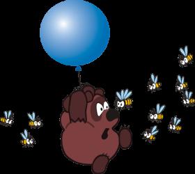 Winnie The Pooh  - Bee PNG