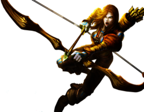Woad Hunter Ashe skin PNG