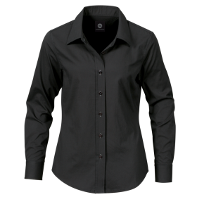 Women Black Dress Shirt PNG