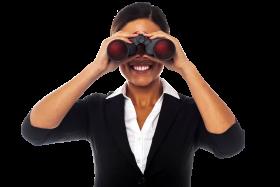 Women Holding Binoculars PNG