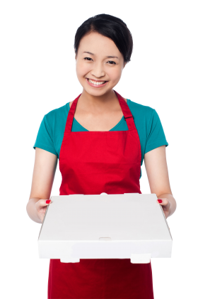 Women Holding Box PNG