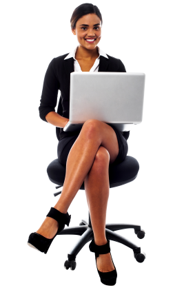 Women In Suit PNG