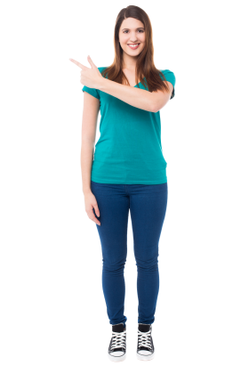 Women Pointing Front PNG
