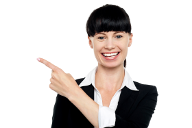 Women Pointing Left PNG