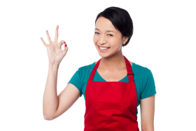 Women Pointing Perfect Symbol PNG