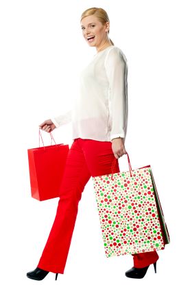 Women Shopping PNG