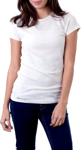 Women's White T-Shirt PNG