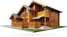 Wooden House PNG